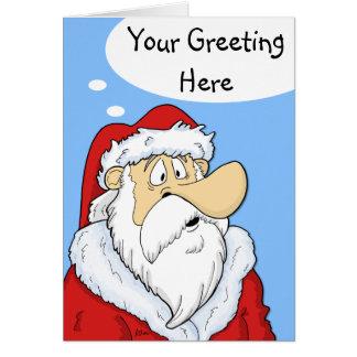 Füllen Sie Blasen-Sankt-Comic-Weihnachtskarte aus Karte