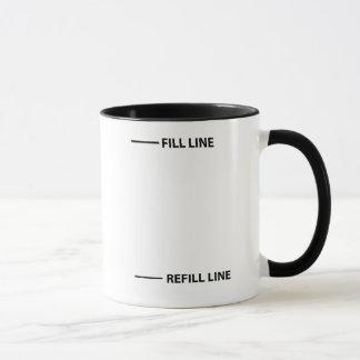 Füllen Sie Linie, Nachfüllungslinie Tasse