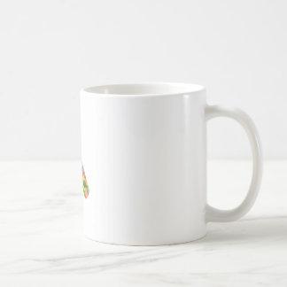 Füllen Sie mit buntem Punkte Symbol für Feier ab Kaffeetasse