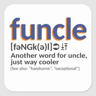 Funcle Definition Quadratischer Aufkleber