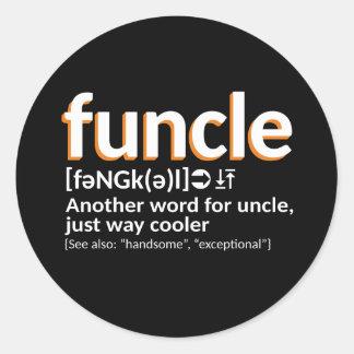 Funcle Definition Runder Aufkleber