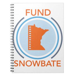 fundsnowbate Kreis-Logo Notizblock