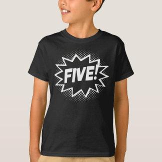 FÜNF! 5. Geburtstags-Geschenksuperhero-Logo-T - T-Shirt