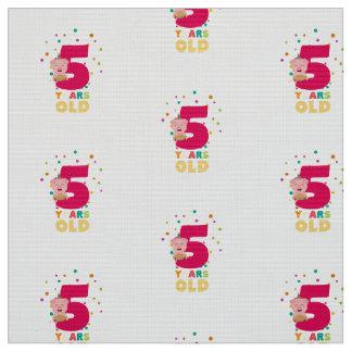 Fünf des alten fünften Geburtstags-Jahre Stoff