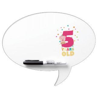 Fünf des alten fünften Geburtstags-Jahre Trockenlöschtafel