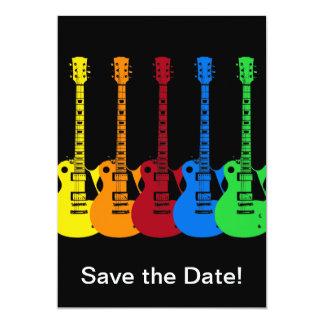 Fünf E-Gitarren Karte