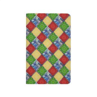 Fünf Element-Fahne Taschennotizbuch