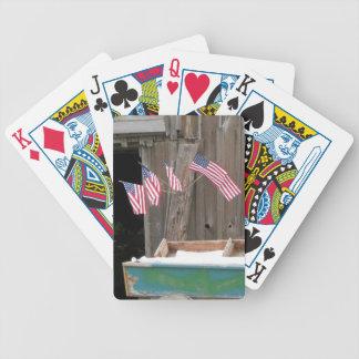 Fünf Flaggen und Scheune Bicycle Spielkarten
