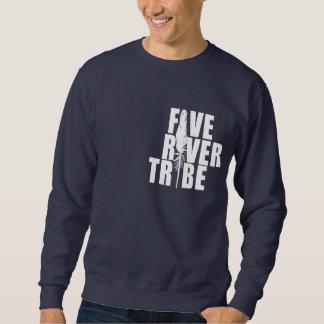 Fünf Fluss-Stamm-weißer Druck durch bescheidenes Sweatshirt