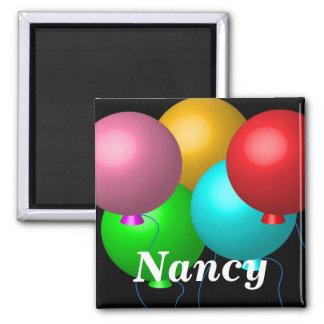 Fünf Geburtstags-Ballone Quadratischer Magnet