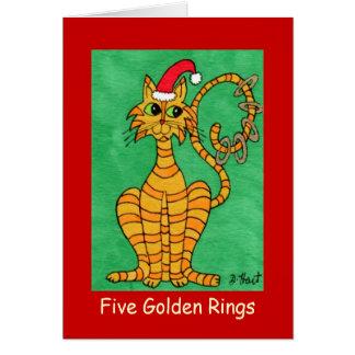 Fünf goldene Ringe Karte