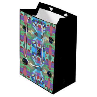 Fünf Juwel-abstrakter Entwurf Mittlere Geschenktüte