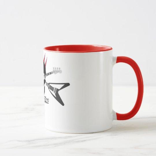 Fünf Kääze Tasse mit farbigem Rand