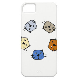 Fünf Katzen iPhone 5 Hülle
