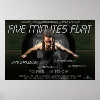 """Fünf Minute-flaches"" Plakat"