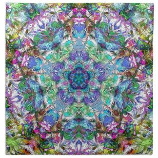 Fünf Punkte der Farbe abstrakt Serviette