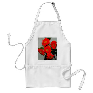 Fünf rote Blumen Schürze