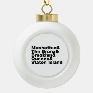 Fünf Städte ~ New York City Keramik Kugel-Ornament