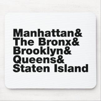 Fünf Städte ~ New York City Mousepads