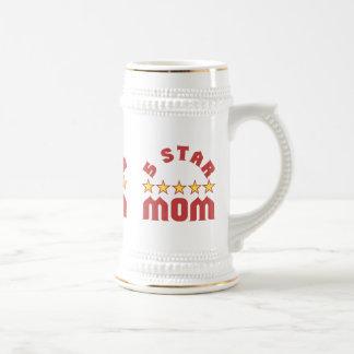 Fünf Stern-Mamma Bierglas