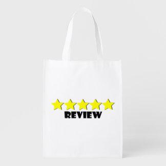 Fünf-Sternebericht-wiederverwendbare Tasche Wiederverwendbare Einkaufstasche