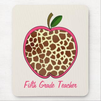 Fünfter Grad-Lehrer-Giraffen-Druck Apple Mousepads