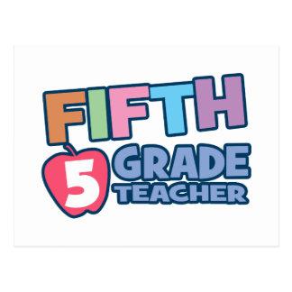 Fünfter Grad-Lehrer Postkarte