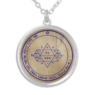 Fünftes Pentagramm von Jupiter Versilberte Kette