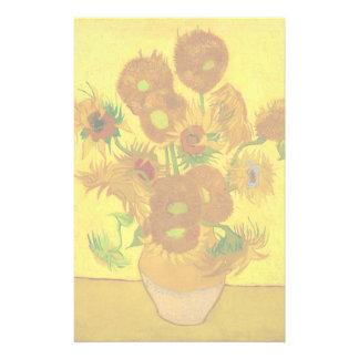 Fünfzehn Sonnenblumen in einem Vase Briefpapier