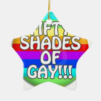 FÜNFZIG SCHATTEN HOMOSEXUELLER MULTI SCHATTEN KERAMIK Stern-Ornament