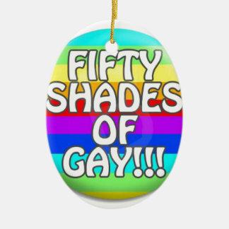 FÜNFZIG SCHATTEN HOMOSEXUELLER MULTI SCHATTEN OVALES KERAMIK ORNAMENT