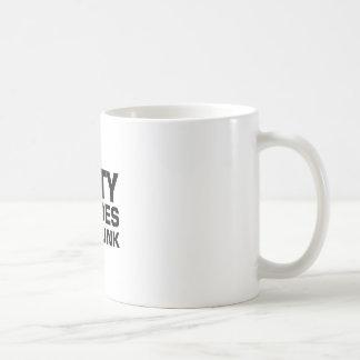 Fünfzig Schatten von betrunkenem Kaffeetasse