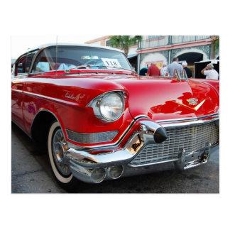 Fünfzigerjahre Cadillac Postkarte