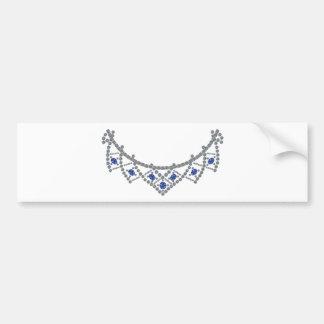 Fünfzigerjahre Diamant-Saphir-Halskette Autoaufkleber