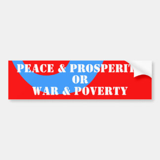 Fünfzigerjahre Frieden u. Wohlstand u. moderner Autoaufkleber