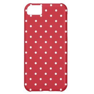 Fünfzigerjahre reden roten Tupfen iPhone Kasten an iPhone 5C Schale