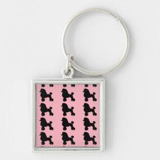 Fünfzigerjahre rosa Pudel-Rock inspiriertes Schlüsselanhänger