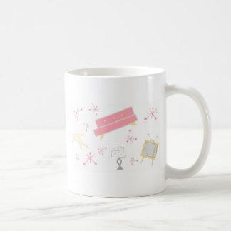 Fünfzigerjahre ROSA WOHNZIMMER-SET Kaffeetasse