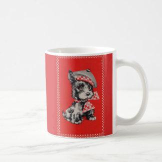 Fünfzigerjahre Scottiehund im Rot Kaffeetasse