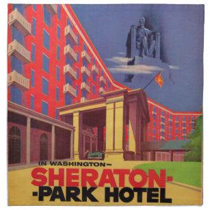 Fünfzigerjahre Sheraton Park-Hotel - Washington, Serviette