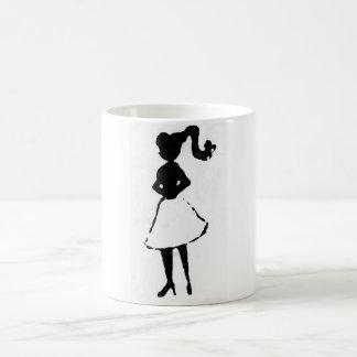 Fünfzigerjahre Silhouette Kaffeetasse