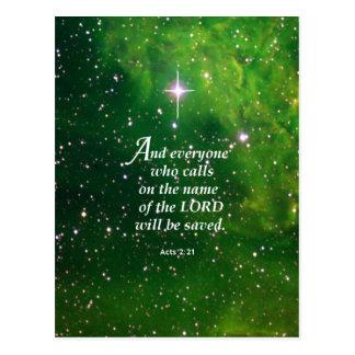 Fungiert 2:21 postkarte