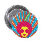 Funk ~ Funky Disco-Königin-80erachtziger jahre Ret Runder Button 5,1 Cm