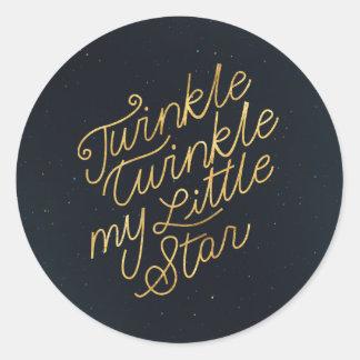 Funkeln-Funkeln mein kleiner Stern Runder Aufkleber