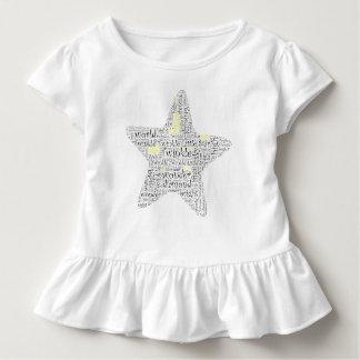 Funkeln-Funkeln-Stern-Wort-Kunst Kleinkind T-shirt