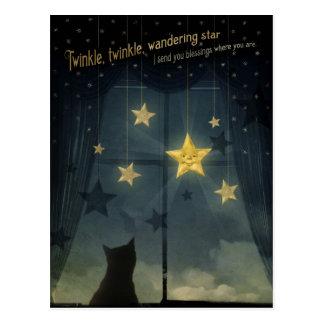 Funkeln, Funkeln, wandernder Stern Postkarte