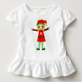 Funkeln-Kleinkind-Rüsche-T-Shirt Kleinkind T-shirt