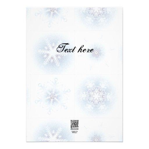 Funkelnd blaue Schneeflocken Personalisierte Ankündigungskarte