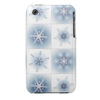 Funkelnd blaue Schneeflocken Case-Mate iPhone 3 Hüllen
