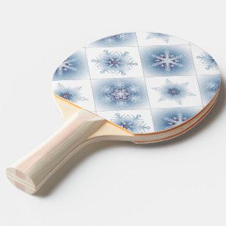 Funkelnd blaue Schneeflocken Tischtennis Schläger